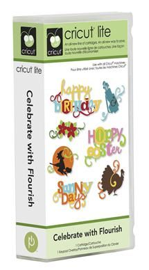 Cricut® Lite Celebrate with Flourish Cartridge - Cricut Shop