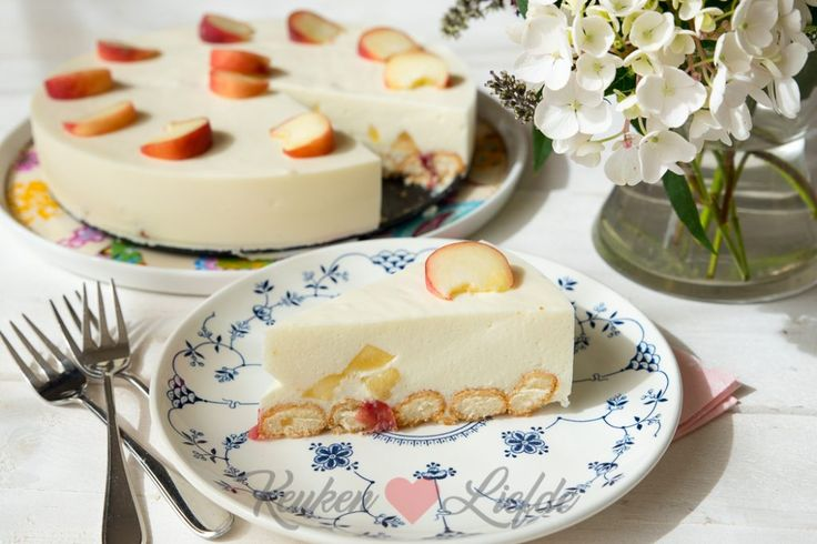 Perzik kwarktaart met lange vingers - Keuken♥Liefde