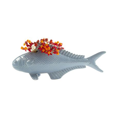 Charmingly shaped like a common carp, this Swimmingly Planter is sure to make a…