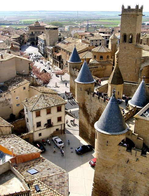 Olite, Navarra, Spain. My school year abroad school went here on a field trip, and I missed it because I was totally sick. I missed the princess castle. :(