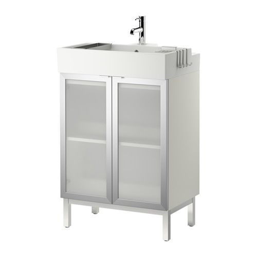 Lill ngen sink cabinet with 2 doors ikea can be used as a - Using kitchen cabinets for bathroom vanity ...