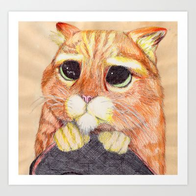 Puss In Boots. Art Print by DeMoose_Art - $20.00 Introducing iPhone 6 Cases to Society6!