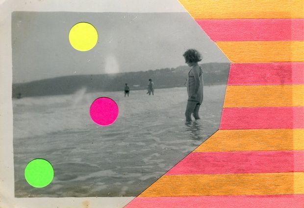 Sobre fotografias vintage, padrões e fluorescência! Conheça as intervenções artísticas da italiana Naomi Vona - Follow the Colours