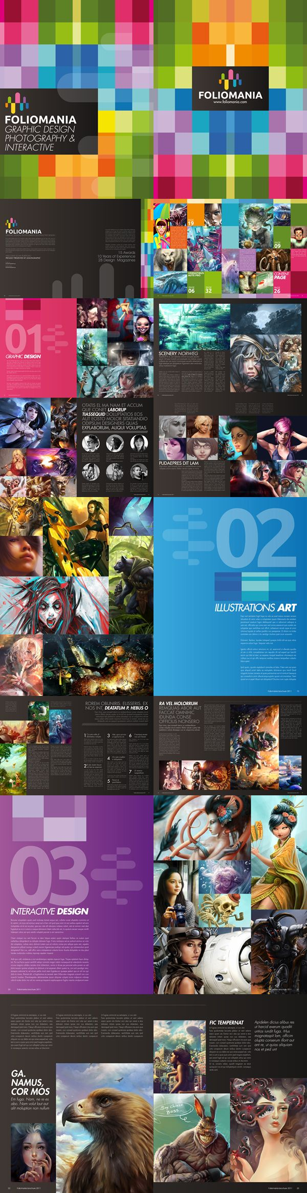 Nice brochure : Foliomania is a portfolio brochure designed for designers. www.lemongraphic.sg