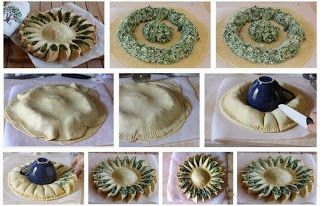Sunflower puff pastry stuffed!