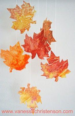 listí s voskovkami