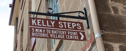 The Kelly Steps are what we see when we look out of the window at Nolan Art.