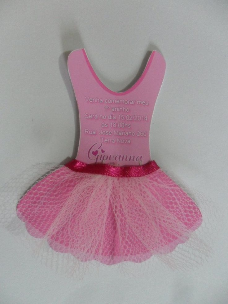 Convitinho vestido bailarina 8x6 cm com tule,fita de cetim minimo de 10 unidades