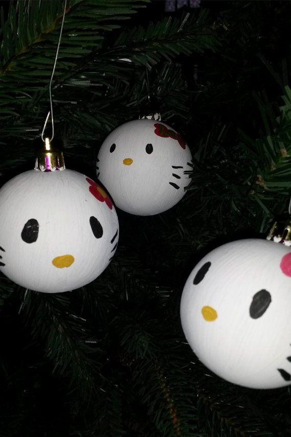 Hello Kitties Christmas ornaments by GetCreativeStudio on