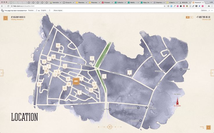 interactive illustrated map
