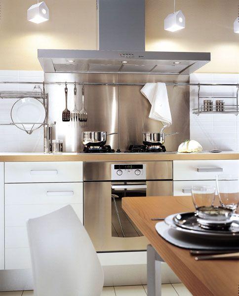 1000 id es sur le th me cuisine mobalpa sur pinterest for Cuisine facade inox
