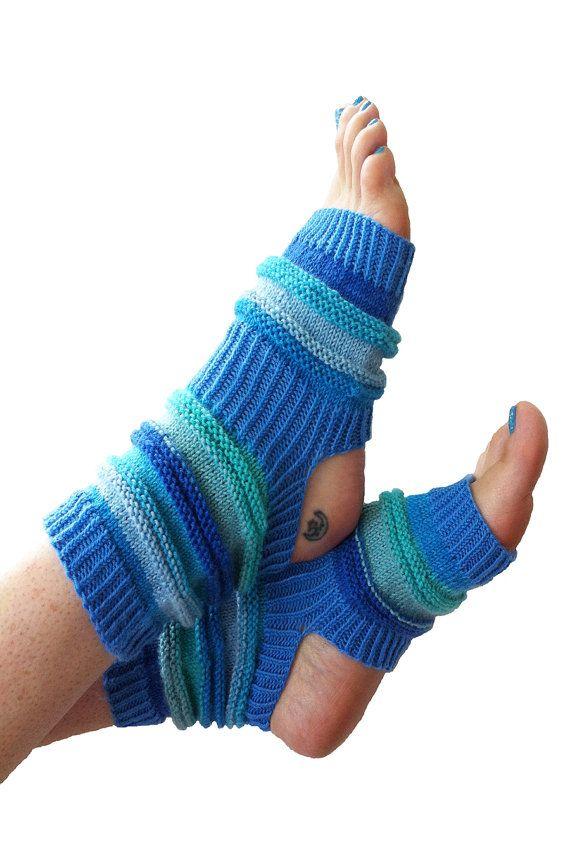 Hand Knit Yoga Socks  Pilates Socks  PiYo Socks  Dance by LizSox, $28.00