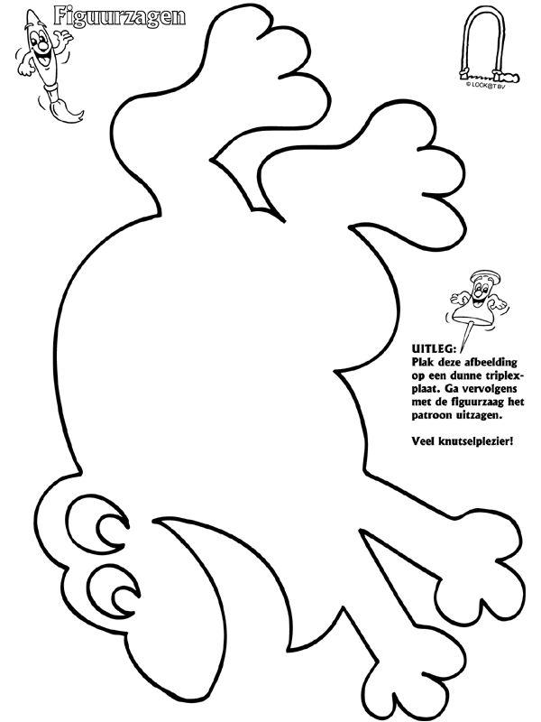Kleurplaat Puppy Kerst Kikker Figuurzagen Kikker Knutselidee 235 N Pinterest