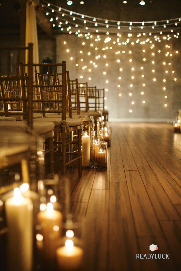 25 Romantic Winter Wedding Aisle Décor Ideas | http://www.deerpearlflowers.com/25-romantic-winter-wedding-aisle-decor-ideas/