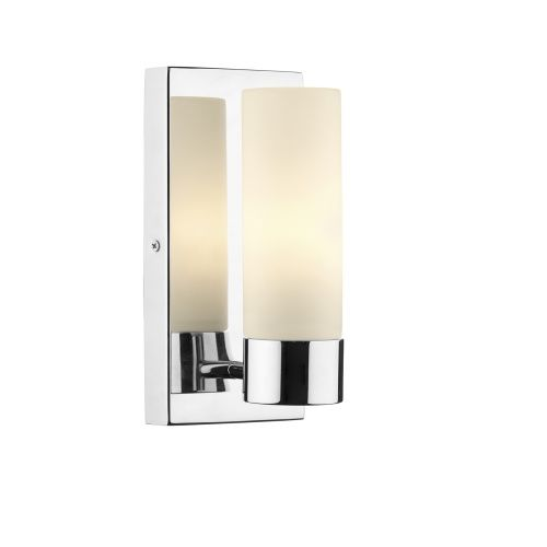 Ada0750 adagio bathroom light single bathroom wall light in polished chrome and complete with an