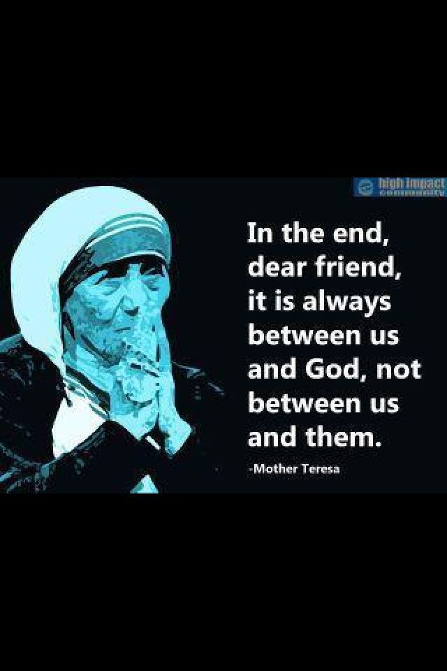 Essay written by Mother Teresa from God's point of veiw?