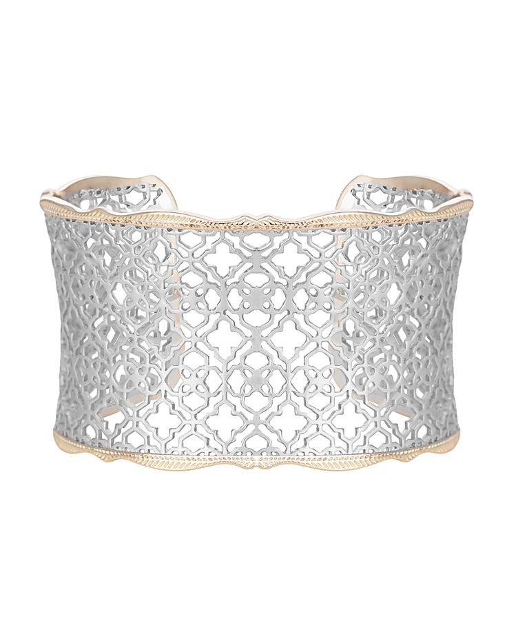 Candice Cuff Bracelet In Silver