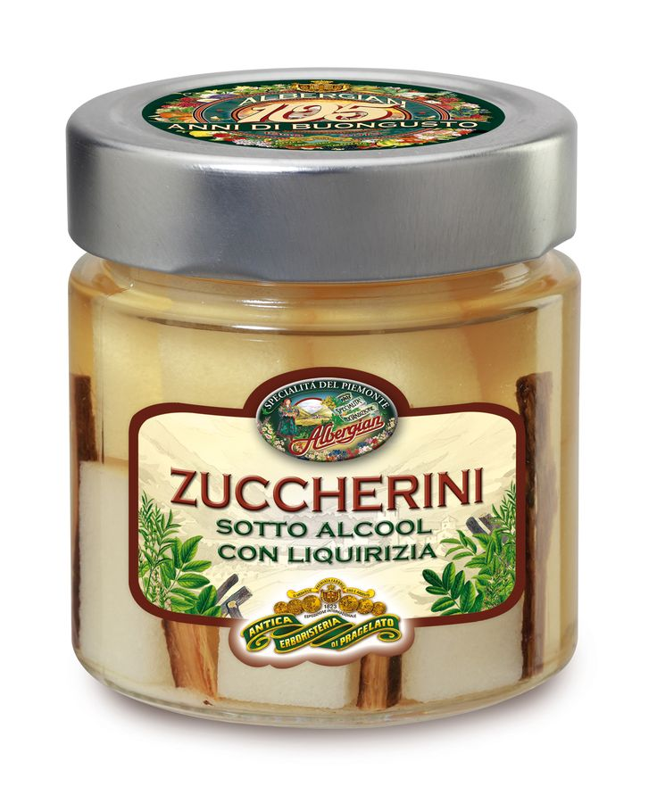 In alchol sugary with licorice: to close the meal firmly and digestive. The taste of italian food. http://www.albergian.it/shop/frutta-sciroppata/zuccherini-con-liquirizia/