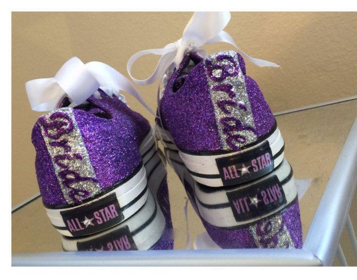 Pretty Purple Plum Eggplant Lavender PICK YOUR Purple In Glitter Swarovski  Crystals Rhinestones CONVERSE All Star · Purple Wedding ShoesPurple ...