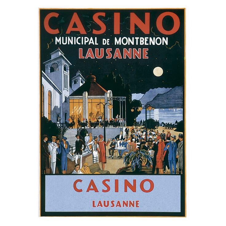 Lausanne Vintage Travel Poster: Vintage Posters, Vintage Prints, Art Prints, Casino, Poster Vintage, Posters Vintage, Vintage Travel Posters, Posters Switzerland, Classic Travel