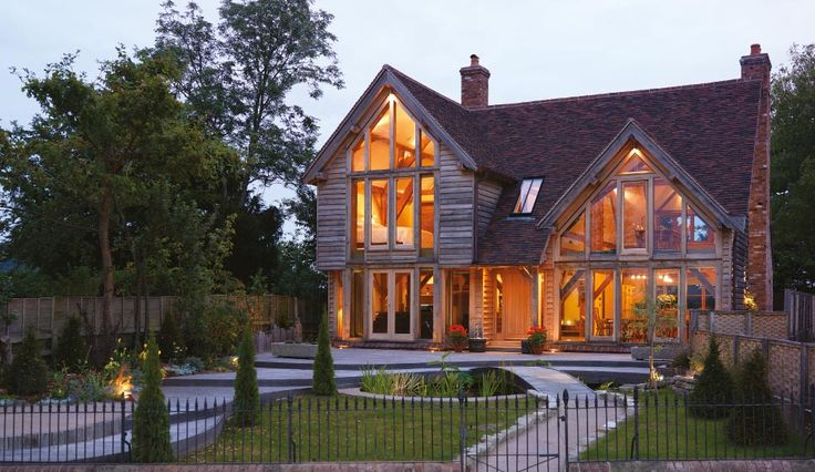 The woodhouse at dusk