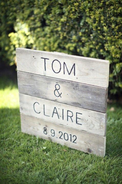 panneaux noms mariés