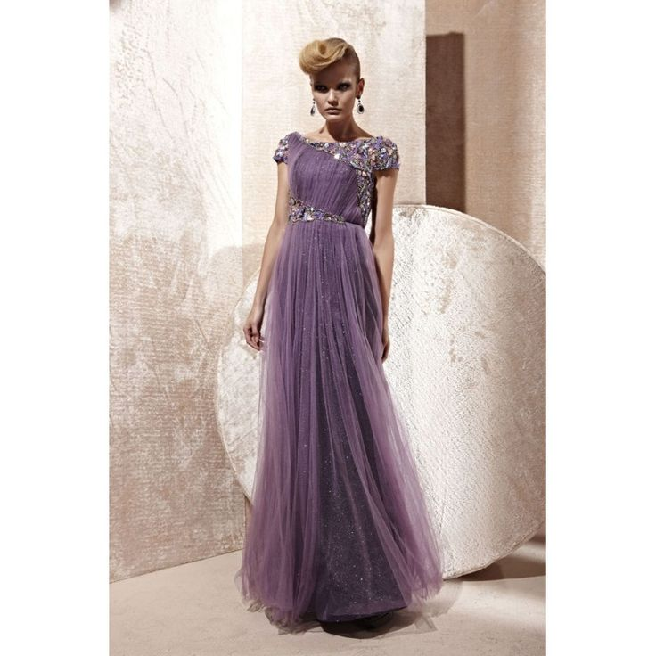 Lilac Organza Tulle Formal Dresses