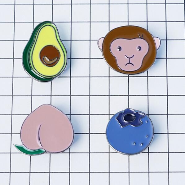 """Monkey and Fruit"" Pin Pack"