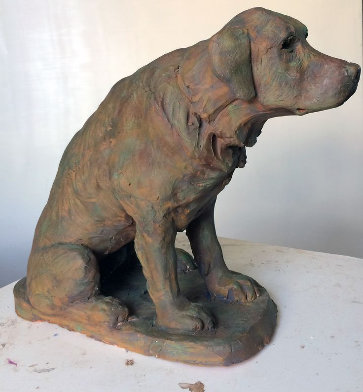 """Henry"" terra cotta. 18"" high. Collection the artist. ©Lesa Cook"