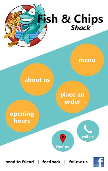 Fish n Chips Shack iCard design developed by Realworx Marketing Group Mobile Apps Australia New Zealand