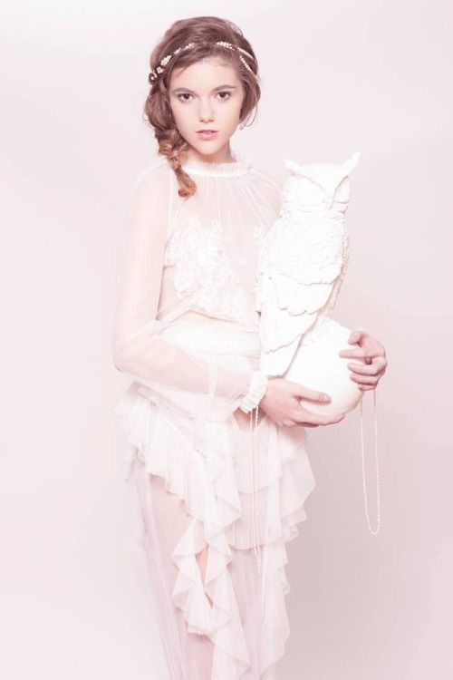 Nora Sarman tulle blouse with lace, tulle skirt