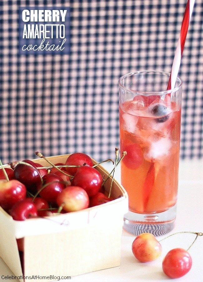 This tasty cherry flavored cocktail will be refreshing to serve all summer long.