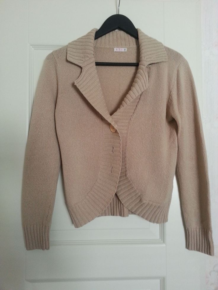 Cardigan - beige, needs to be replaced with something a bit more nicer