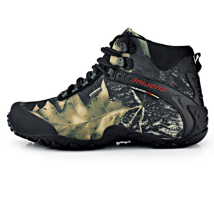 New Outdoor man trekking boots hiking Hunting Boots Fashion Style Leather  Waterproof Hiking Shoes Men Boot