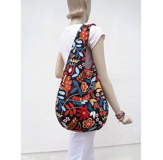Hobo tas slouchy portemonnee sling tas grabbelton bloemrijke hippie