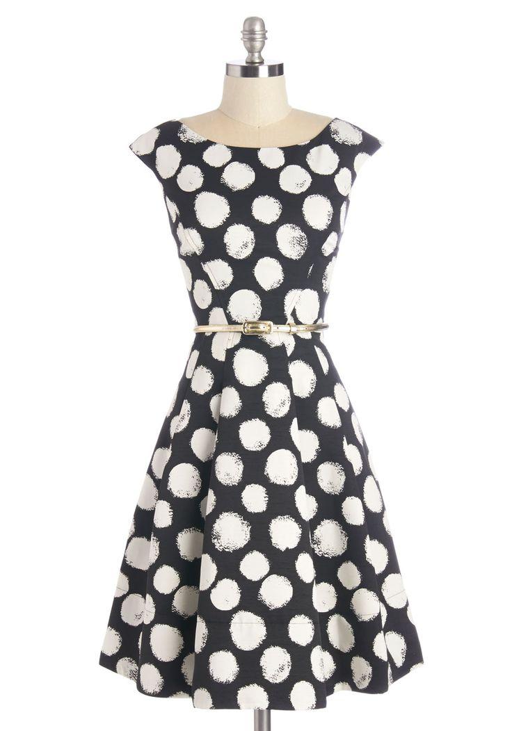 Beyond a Shadow of a Dot Dress  #modcloth