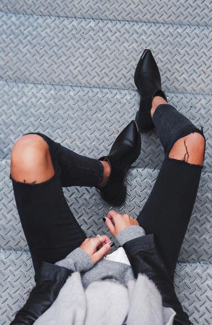 black jeans + black books