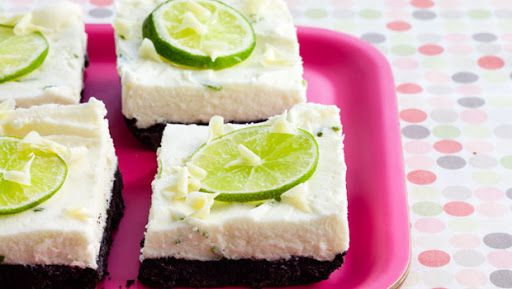 White Chocolate and Lime Cheesecake Bars | Bars | Pinterest