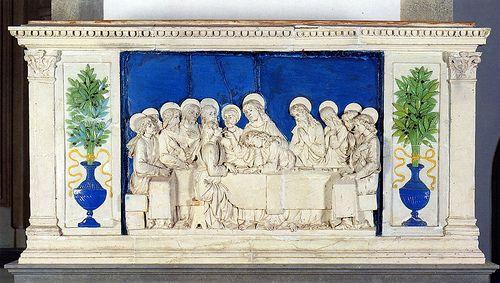 Andrea della Robbia, Ultima Cena, 1485-1490. Pulpito, Santa Fiora, SS. Fiora e Lucilla by renzodionigi, via Flickr