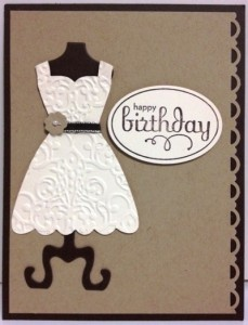 Handmade card featuring the All Dressed Up Stamp Set & Framelits Dies from Stampin' Up!