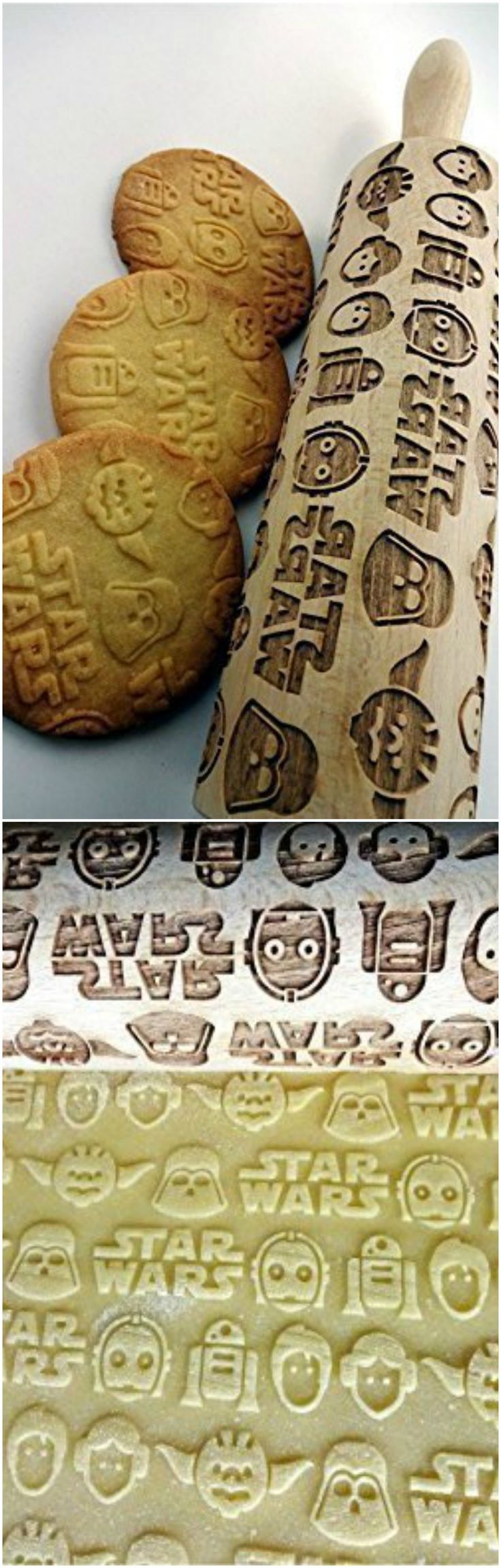 STAR WARS pattern embossing rolling pins can be a part of your kitchen or engraved keepsakes. They make a unique and touching gift for any person, family or occasion. Perfect for birthdays, house-warming, Christmas, Mother's Day or special occasion.