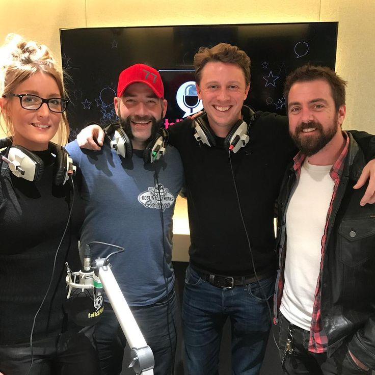There's a new car TV show starting in the U.K. next week: @goblinworksgarage . I'm delighted to say the 3 stars joined me yesterday recording for this weekends radio show. You can hear them on Saturday from 3pm on @talkradiouk.