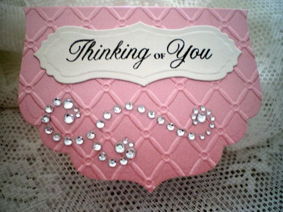 Posh Handemade Note Card with a cut dazzling and by Ankis Creation