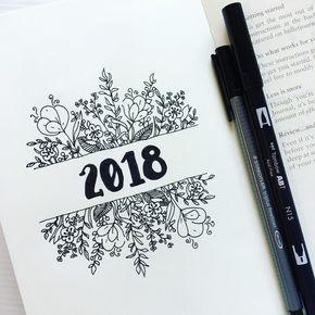 Coucou je reviens avec un peux beaucoup de retard je vous souhaite une très bonne année  2k18 avec vos meilleurs vœux  je reviens avec de nouvelle résolution  voilà un bullet journale pour l'année