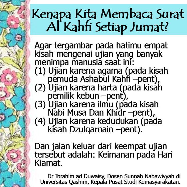 http://nasihatsahabat.com/kenapa-kita-membaca-surat-al-kahfi-setiap-jumat/ #adabJumat, #hariJumat, #nasihatulama, #petuahulama, #alasan, #kenapa, #bacaAlKahfi, #membacaAlKahfi #setiapJumat #Alkahfi nasihatsahabat #mutiarasunnah #motivasiIslami #petuahulama #hadist #hadits #nasihatulama #fatwaulama #akhlak #akhlaq #sunnah #aqidah #akidah #salafiyah #Muslimah #adabIslami #DakwahSalaf # #ManhajSalaf #Alhaq #Kajiansalaf #dakwahsunnah #Islam