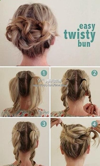 Pleasing 1000 Ideas About Fancy Buns On Pinterest Pull Back Bangs Diy Short Hairstyles Gunalazisus