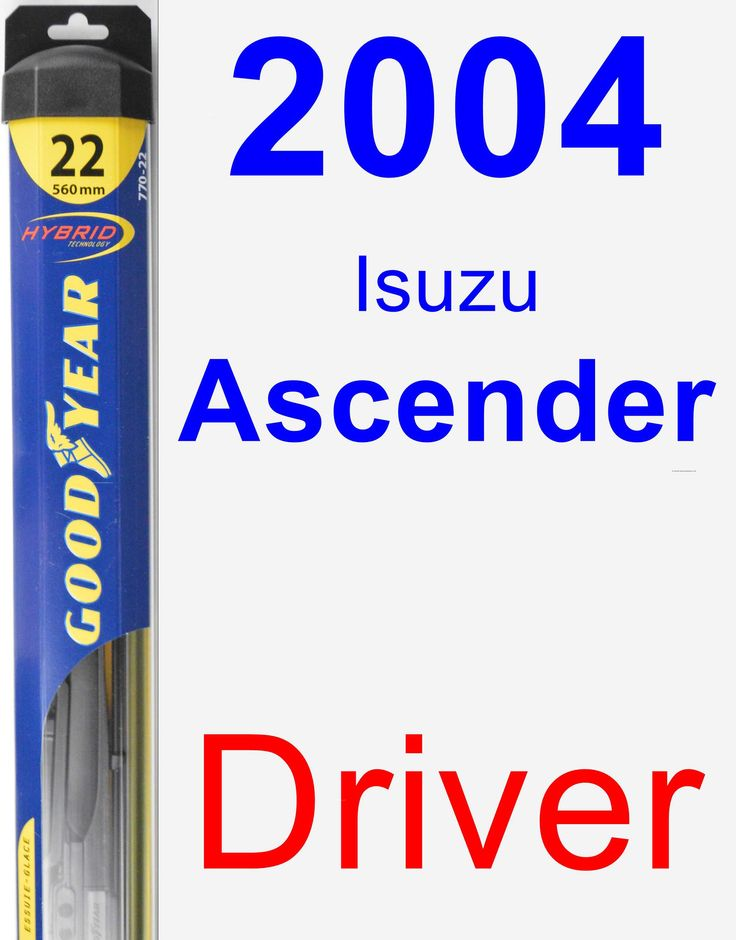 Driver Wiper Blade for 2004 Isuzu Ascender - Hybrid