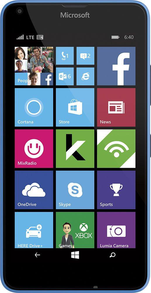 Microsoft Lumia 640 4G LTE with 8GB Memory Prepaid Cell Phone #CricketWireless