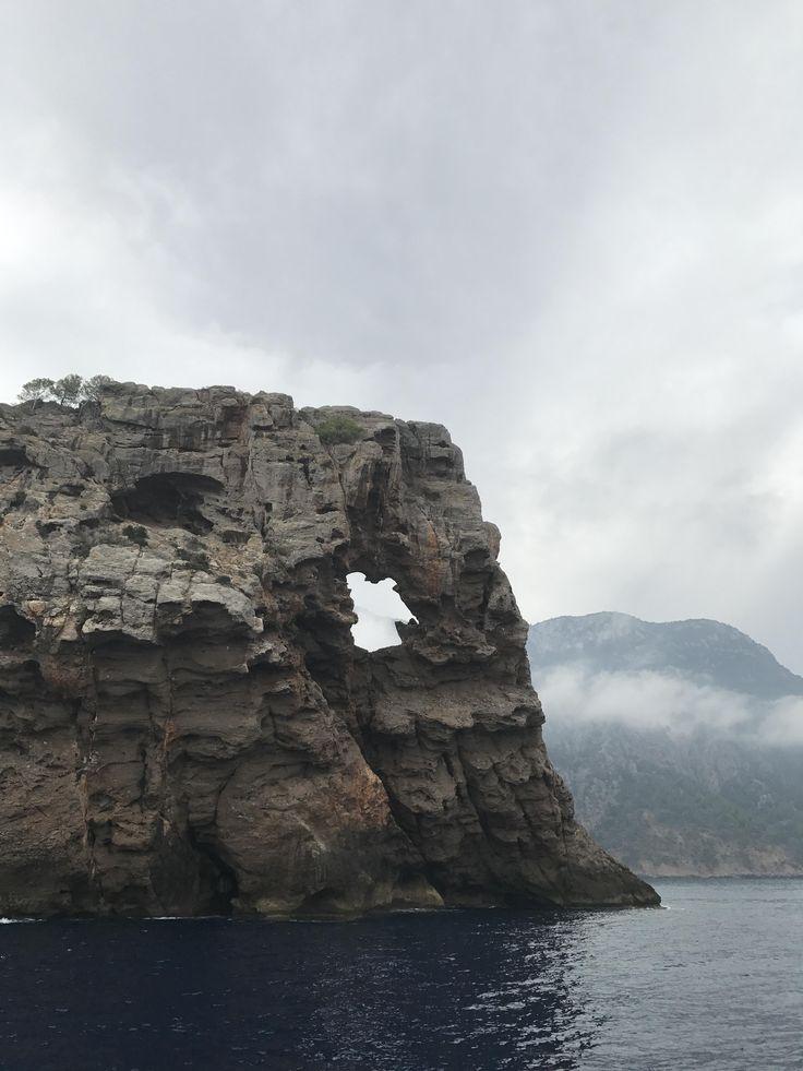 Sa Foradada (Hole Rock) in the beautiful seas of Mallorca an island off the coast of northern Spain