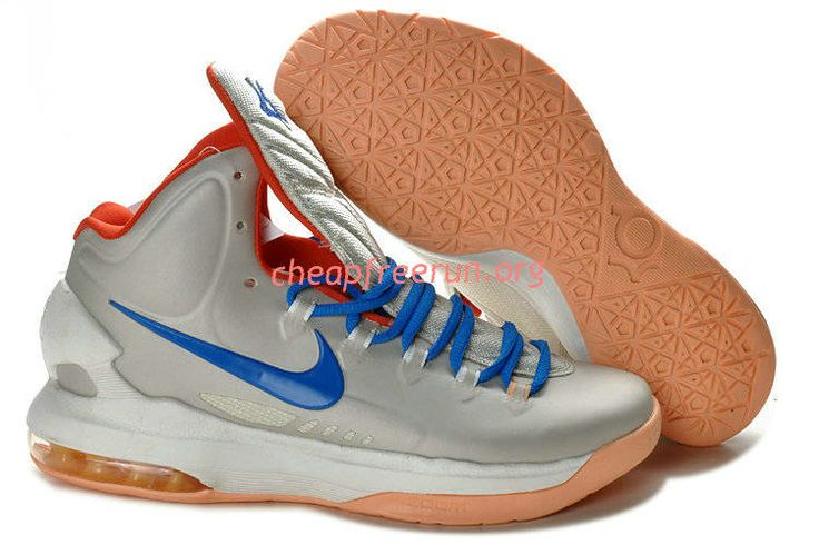 New Nike Zoom KD V Kevin Durant 5 Shoes For Sale White Blue Red 554988 200